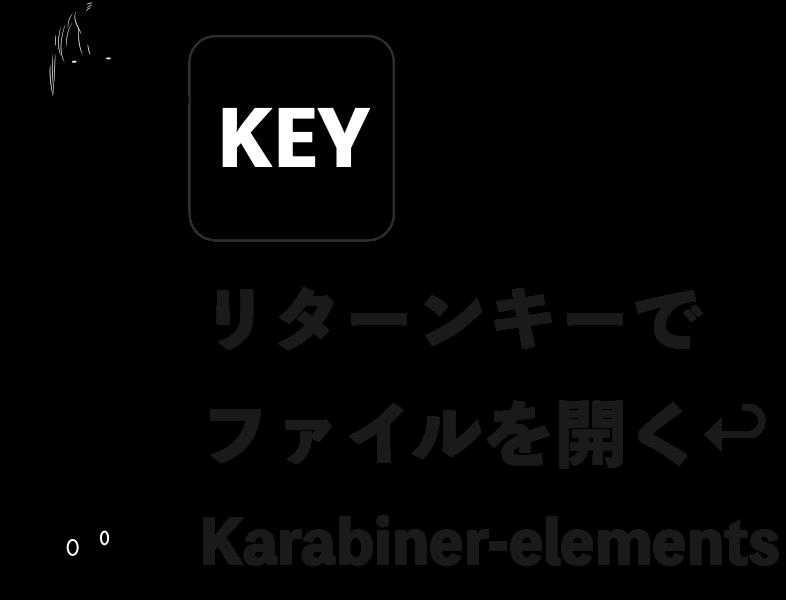 リターンキーでファイルを開く karabiner-elements編